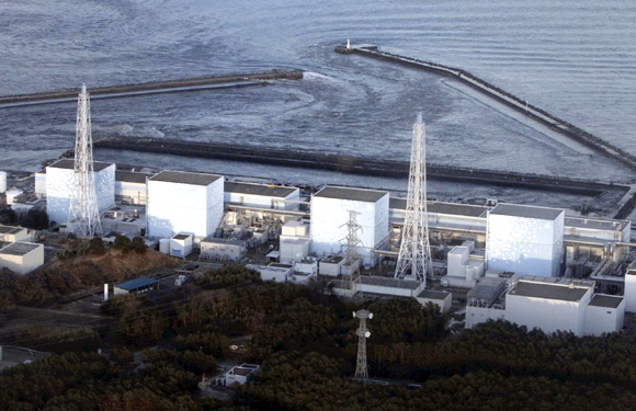 The Fukushima nuclear plant is seen in the aftermath of a massive earthquake in Japan
