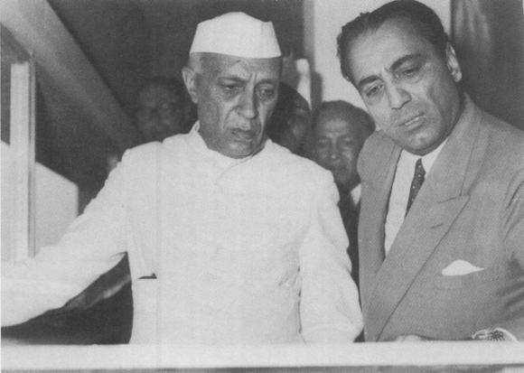 Nehru with Dr Homi Bhabha