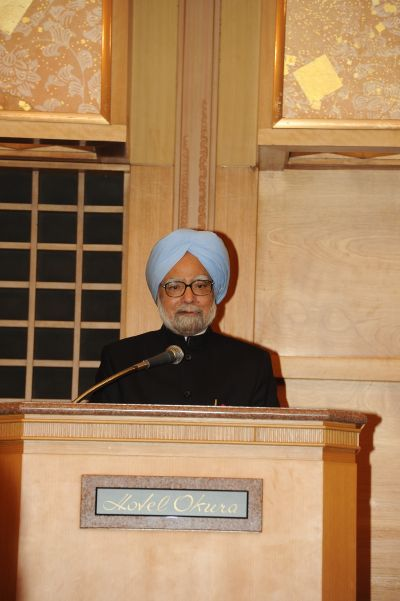 Prime Minister Manmohan Singh addresses the Japan India Association in Tokyo on Tuesday