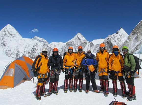 Giripremi's team that scaled Mt Everest