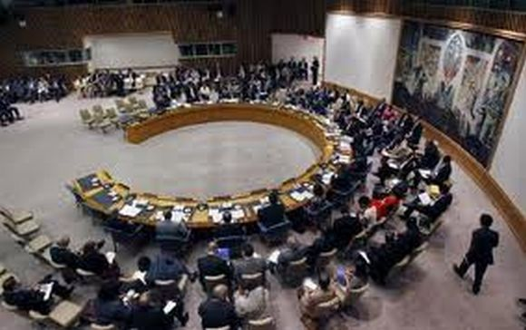 United Nations Security Council in a meeting