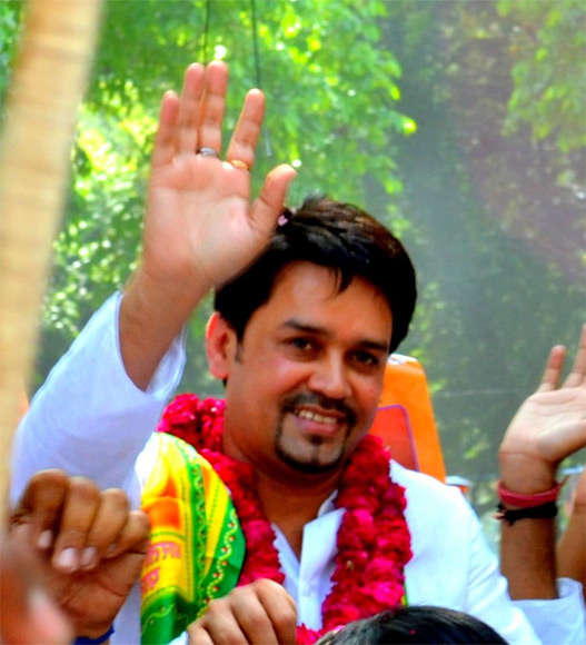 Anurag Thakur heads the BJP Yuva Morcha.