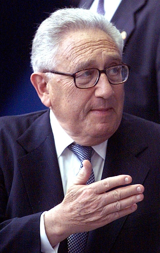 Former United States secretary of state Henry Kissinger