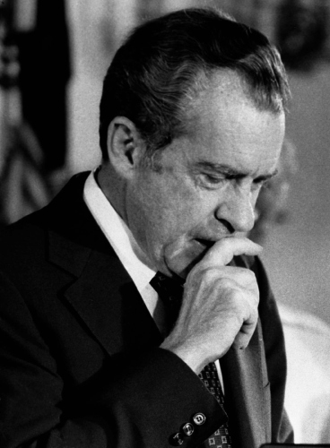Then US president Richard M Nixon