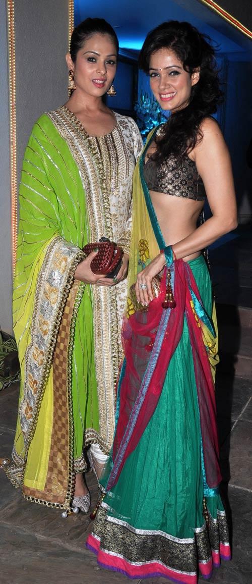 Anjana Sukhani and Vidya Malwade