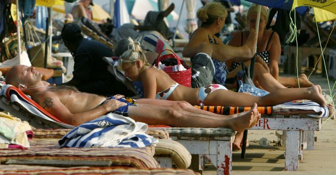 Tourists relaxing at Baga beach in North Goa (image for representational purpose only)