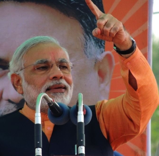 Congress using Indian Mujahideen to stop me: Modi