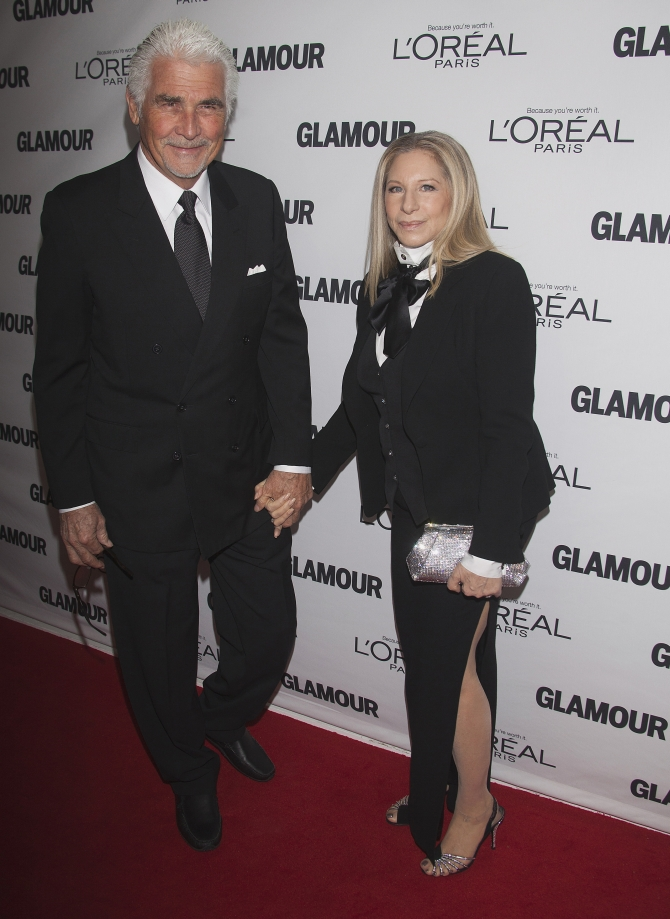 Singer Barbra Streisand and husband James Brolin arrive for Glamour