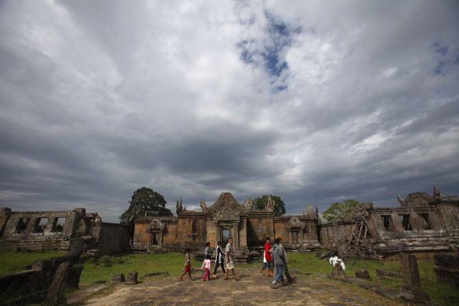 People visit the Preah Vihear temple