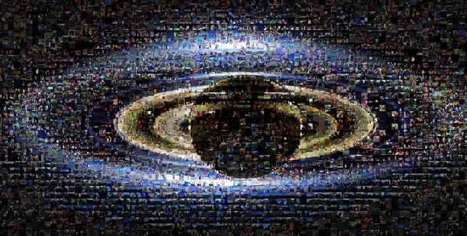 This collage includes about 1,600 images submitted by members of the public as part of the NASA Cassini mission's 'Wave at Saturn' campaign