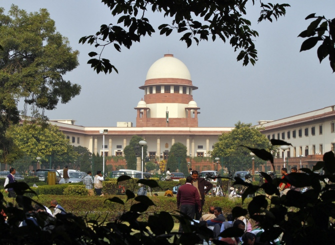 A view of the Supreme Court building is seen in New Delhi