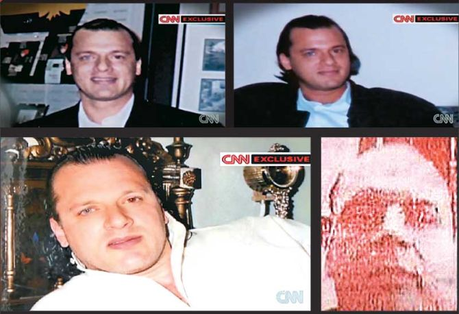 A combination of video grabs showing David Headley