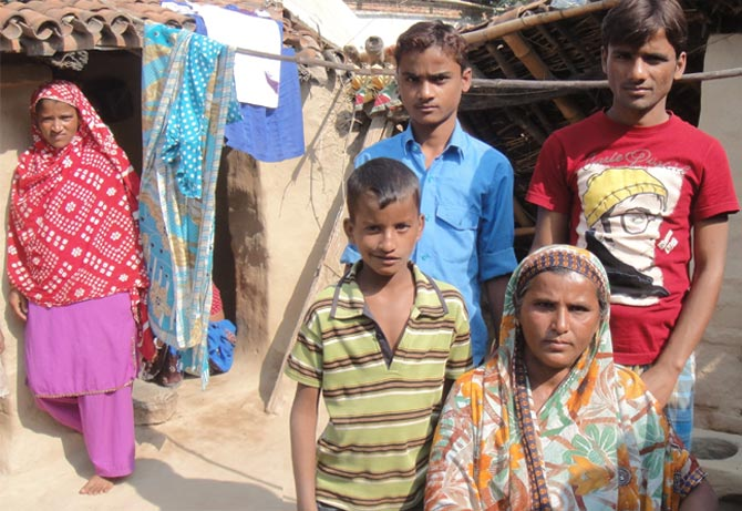 Shakila Khatoon's husband was killed along with five family members at Mumbai's CST station on 26/11. She lives with three sons in a hut with a broken roof in Dhaab on the Bihar-Jharkhand border.