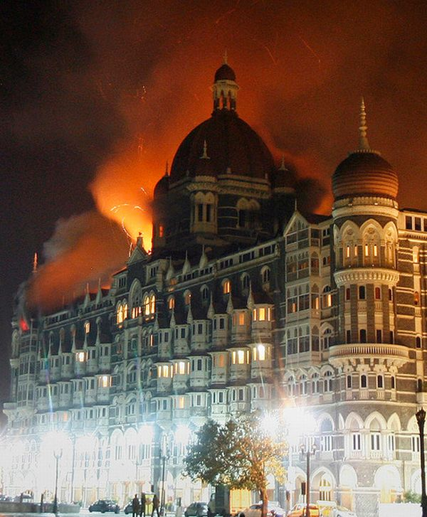 The Taj hotel under attack