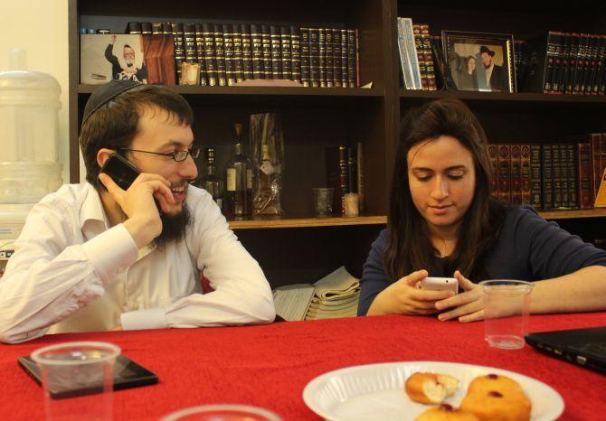Rabbi Israel Kozlovsky and his wife Chhaya.