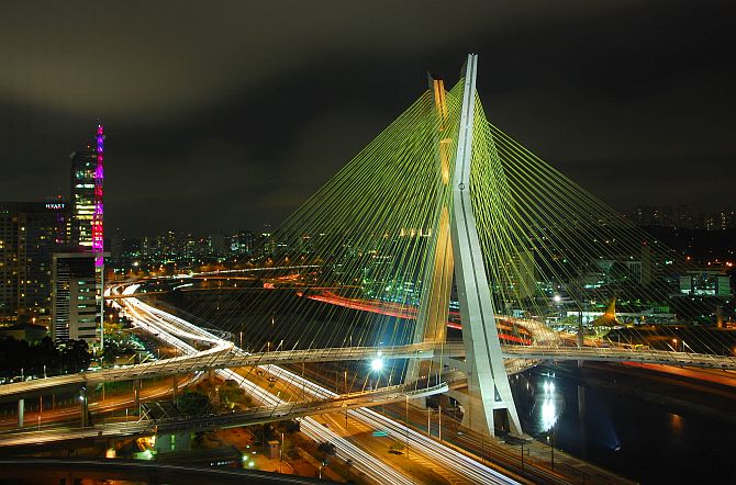 The Octavio Frias de Oliveira bridge, Sao Paulo.
