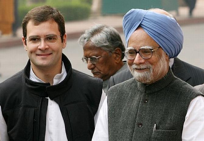 Rahul Gandhi with Dr Singh