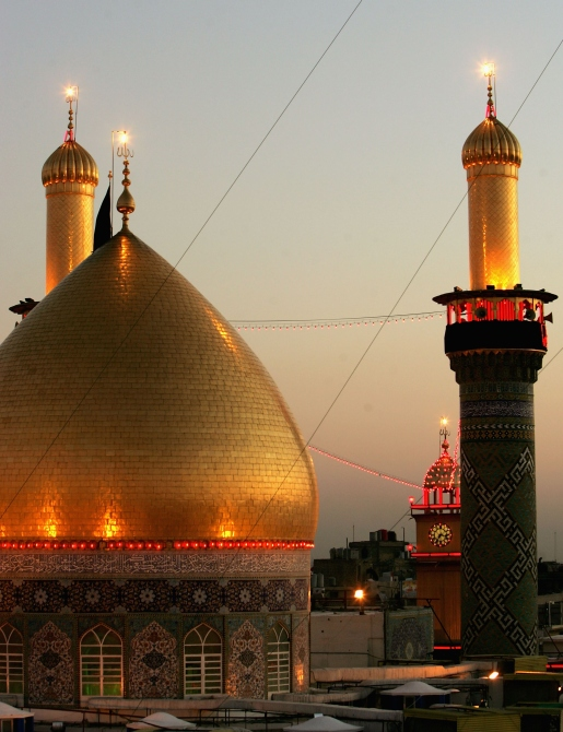 The Shrine of Imam Abbas, brother of Imam Hussein is seen in the holy Shiite city of Karbala