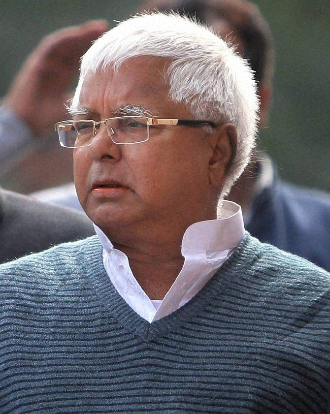 Rashtriya Janata Dal chief and a former Bihar Chief Minister Lalu Prasad Yadav