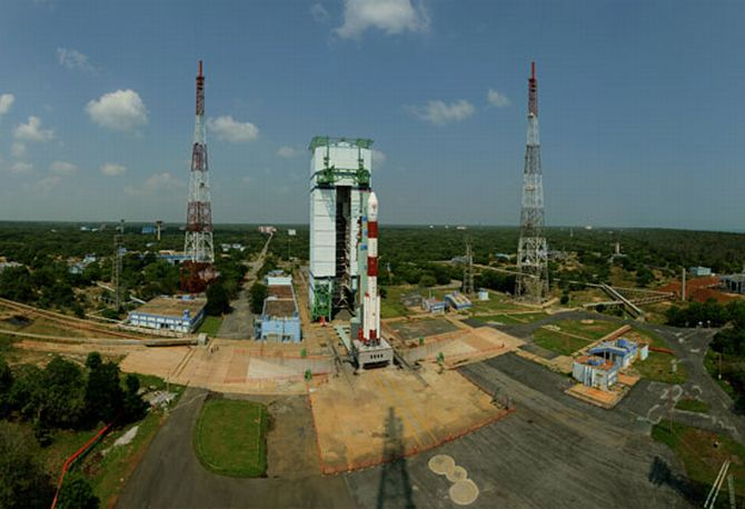 Panaromic view of PSLV-C25