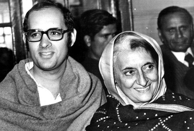 Indira Gandhi and Sanjay Gandhi