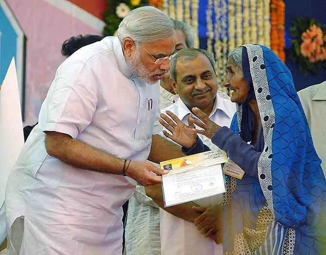 Narendra Modi at a political rally