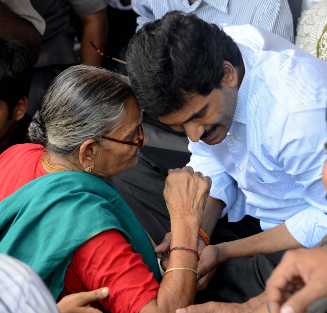 YSR Congress chief Jaganmohan Reddy is on a hunger strike to protest division of the state