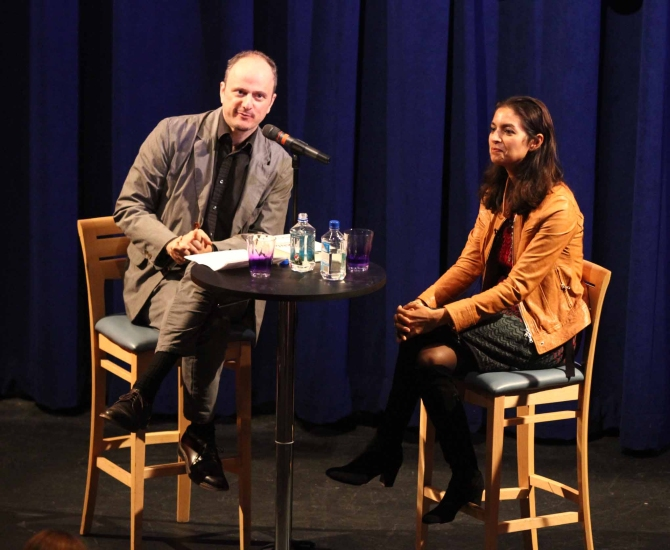 Lahiri in conversation with Pulitzer Prize-winning novelist Jeffrey Eugenides at Princeton, New Jersey