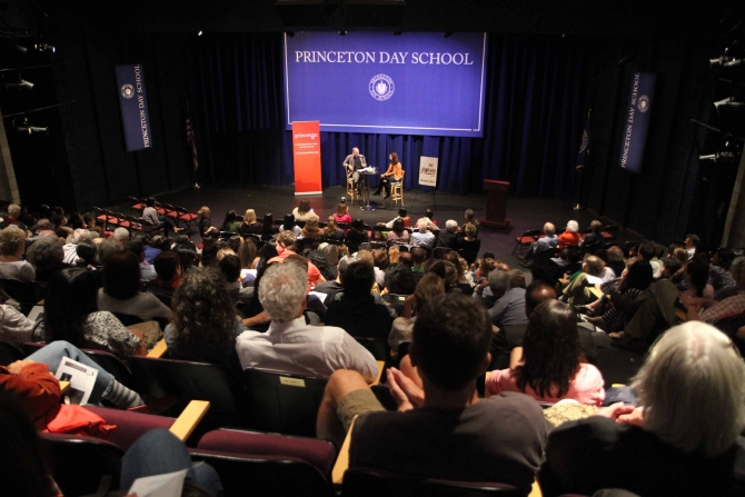 The audience at Princeton, New Jersey
