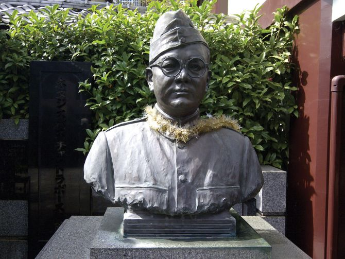The bust of Netaji Subhas Chandra Bose at the Renkoji Temple