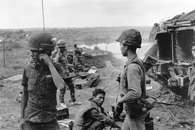 A dugout of Viet Cong soldiers during the Vietnam war.