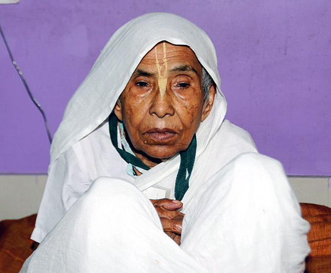 Lolita Adhikari has spent over half a century at a Vrindavan asham.