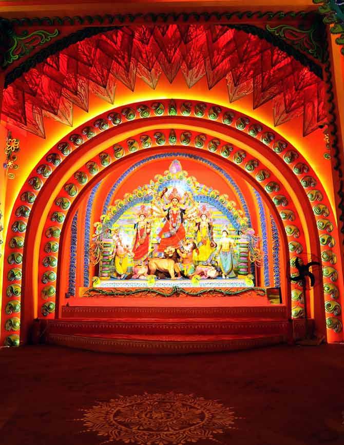 Mudiali Shiv Mandir Durga Pujo