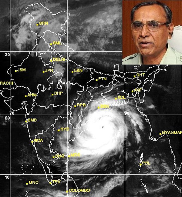 (Inset) Indian Meteorological Department chief L S Rathore