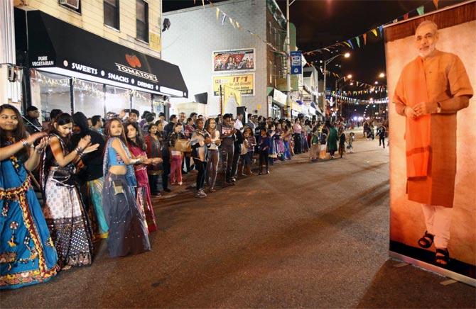 Dancing the night away with Narendra Modi