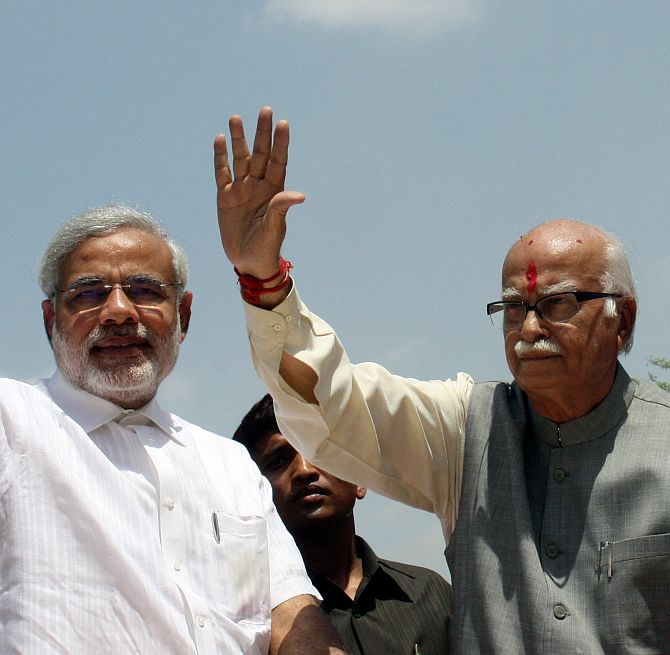 Will be happy to see Narendrabhai as PM: Advani