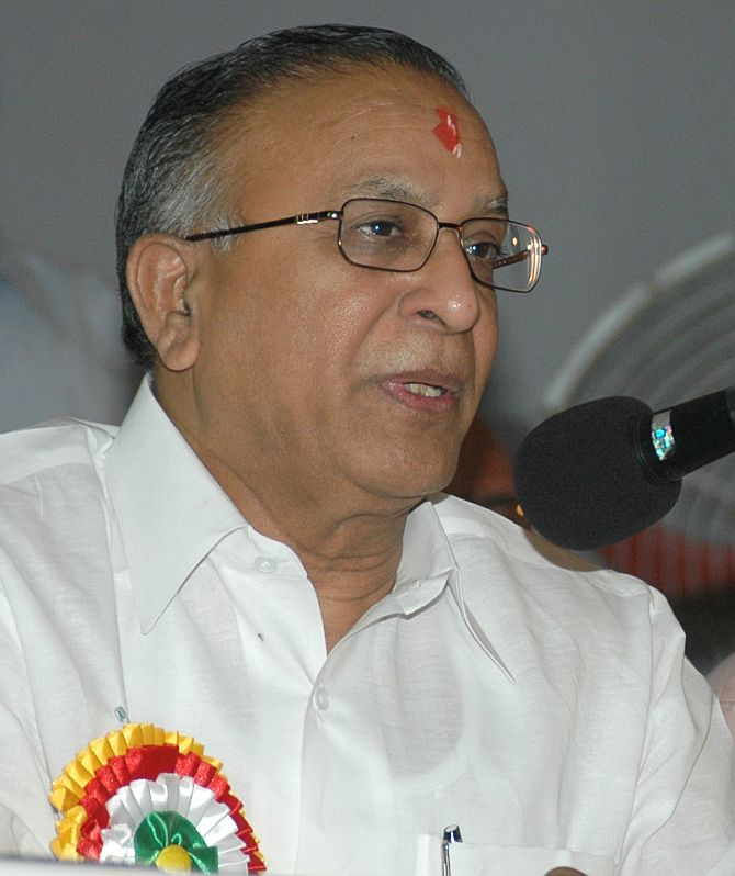 S Jaipal Reddy, who was abruptly removed as petroleum minister.