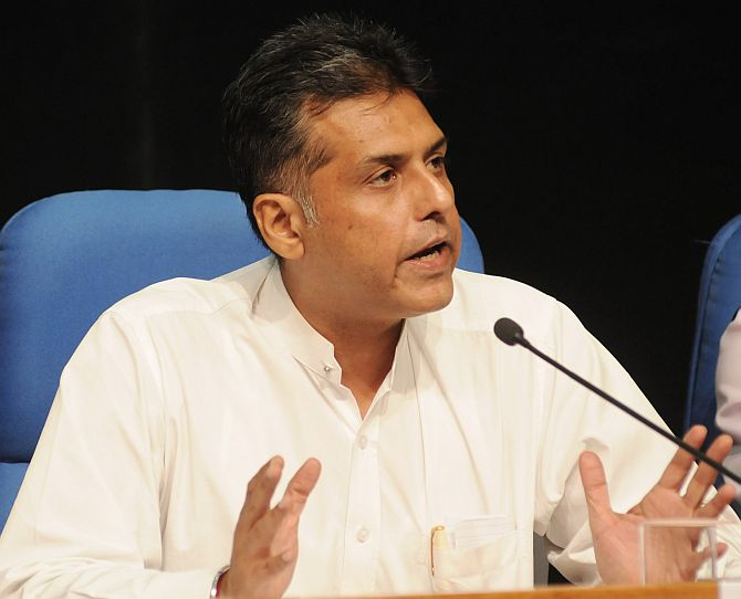 Congress leader Manish Tewari