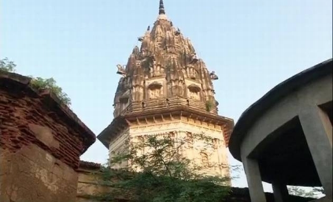 The temple at Unnao, Uttar Pradesh
