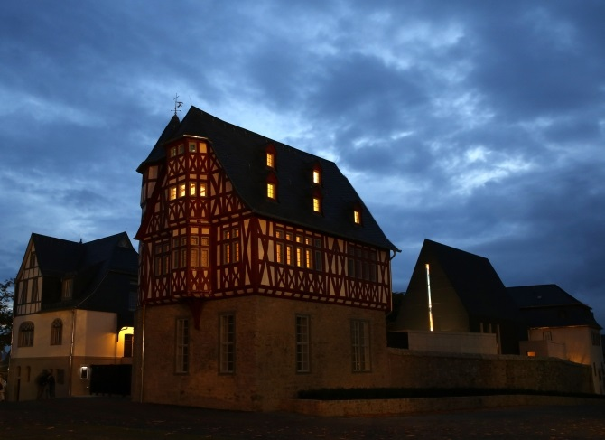 Bishop Franz-Peter Tebartz-van Elst's residence and his private chapel are pictured in Limburg