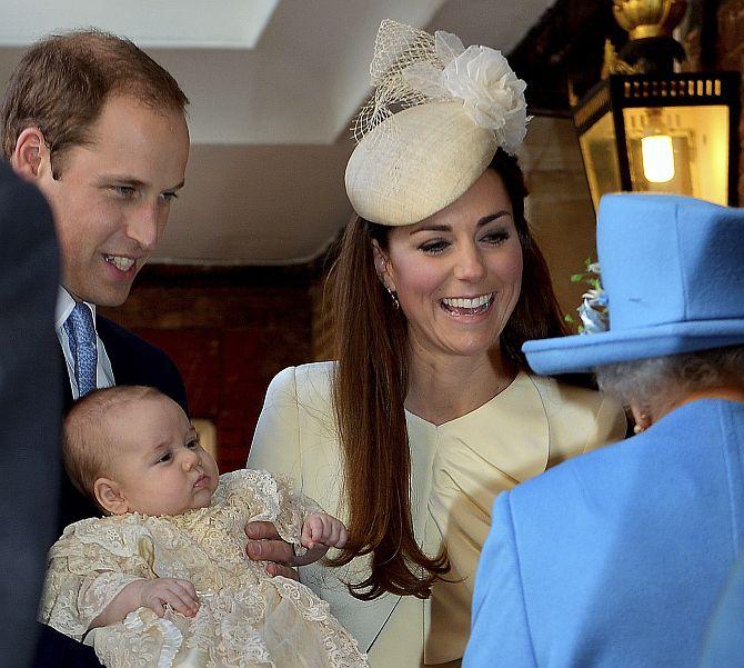 PHOTOS: Britain's baby Prince is welcomed into Christian faith