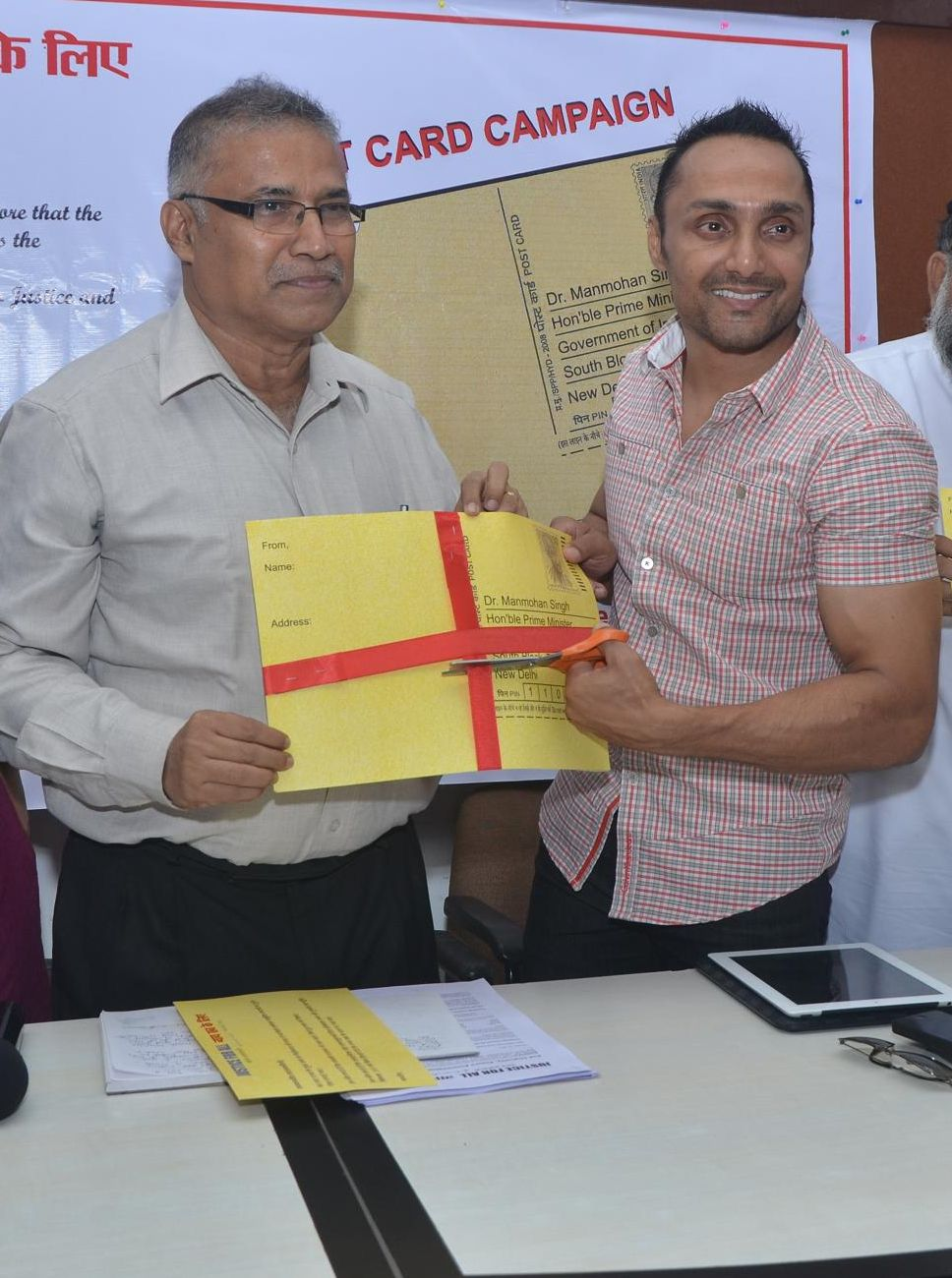 Rahul Bose launches the campaign