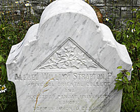 The grave of Alfred William Stratton in the British cemetery in Gulmarg