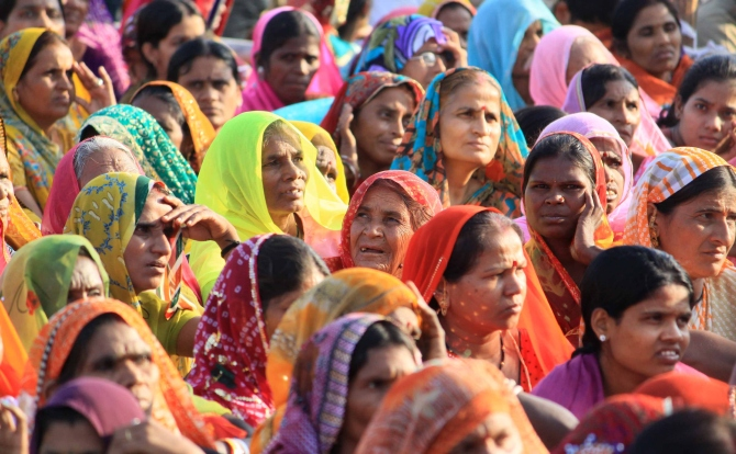 Rajasthani women in a political rally