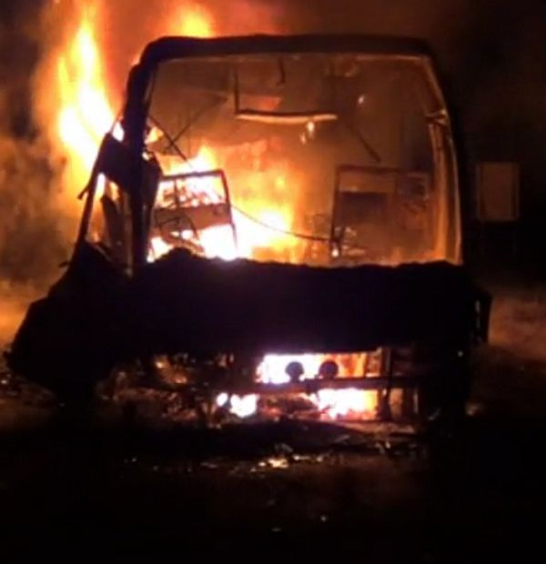 45 Volvo bus passengers perish in fire near Hyderabad