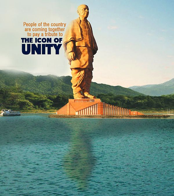 The Statue of Unity, Gujarat, India (Height 182m)