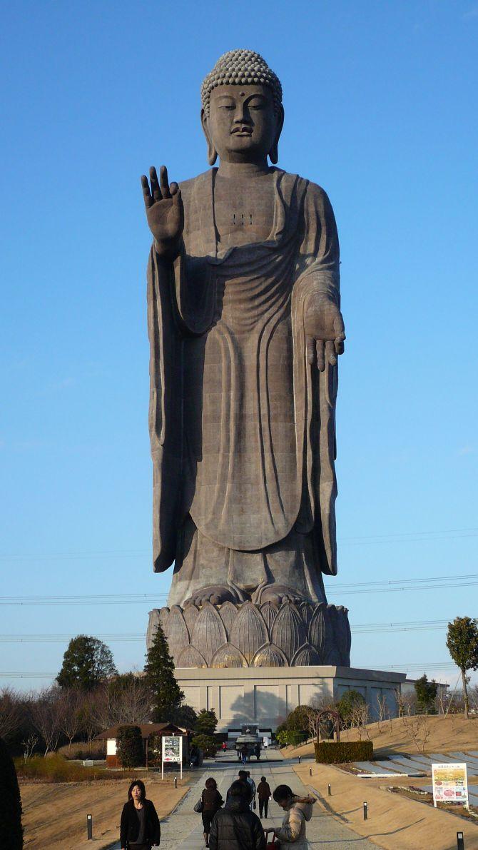 Ushiku Daibutsu, Ibaraki Prefecture, Japan (Height 120m)