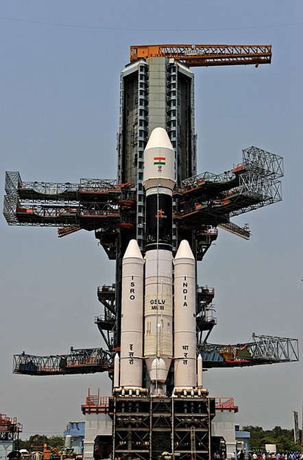 A mock-up of the GSLV Mark III
