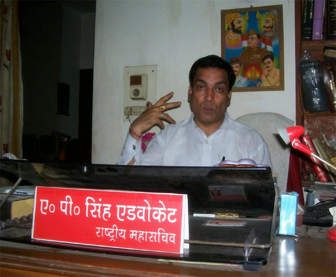 Advocate Ajay Prakash Singh in his office in New Delhi