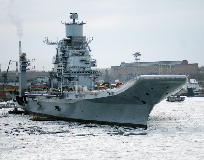 The Admiral Gorshkov aircraft carrier will be handed over to the Indian Navy in Russia.